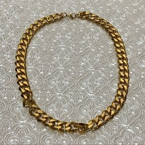 Miami Chain Link Gold Necklace - Stainless Steel
